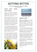 MH newsletter vol 1 front page